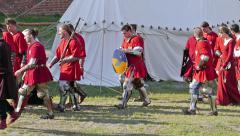 Polish medieval knights Stock Footage