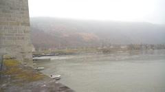 Barrage in Danube Stock Footage