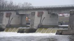 Huge Dam Buildin Stock Footage