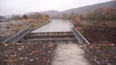 Huge Dam Building Stock Footage