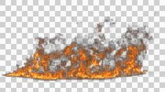 Fire Line Alpha Stock Footage