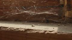 Old cobweb. Macro shot. - stock footage