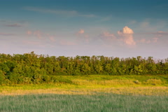 Time Lapse 4K. Rossiya. Rostov region. Sunset in the Don steppe. Stock Footage