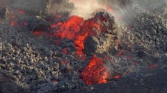 Volcanic lava flowing Stock Footage
