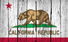 California State Flag Grunge Background - stock photo