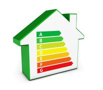 Home Icon Green Energy Levels - stock illustration