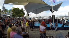 A traditional Cuban Celebration in Bayfront Park, Downtown Miami Stock Footage