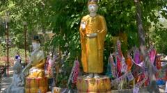 Burmese Temple in Lampang, Tahiland Stock Footage