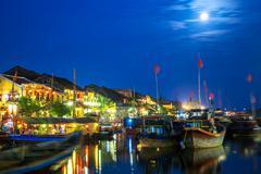 Hoi An ancient town at night, UNESCO Heritage City, Vietnam. Kuvituskuvat