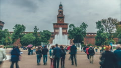 Sforza Castle - Milan, Italy Stock Footage