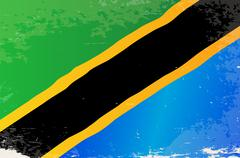 Tanzania Grunge Flag Stock Illustration