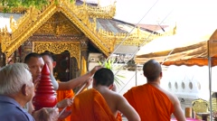 Temple in Lampang, Thailand Stock Footage
