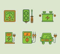 Ecological Icons Set - stock illustration