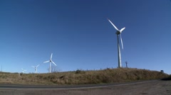 Wind turbines - stock footage