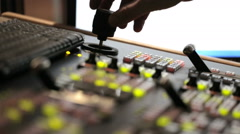 Director broadcast video mixer operation still shot - stock footage