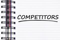competitors words on spring note book - stock photo