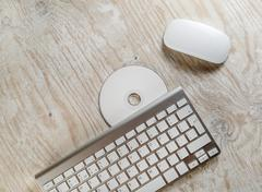 Mouse, keyboard and CD Stock Photos