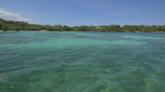 The amazing water of the Caribbean Sea in Jamaica Stock Footage