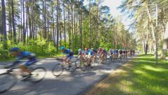 4K UHD JURMALA, LATVIA : Bicycle Race - stock footage