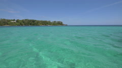 Gorgeous sea water in Jamaica Stock Footage