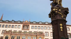 New Town Hall in Wiesbaden, Germany Stock Footage
