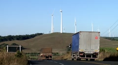 Wind turbines in Brazil Stock Footage