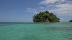 The small Pellew Island in Jamaica Stock Footage