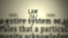 Definition: Law Stock Footage