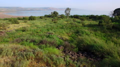 4K Aerial of Sea of Galilee Stock Footage