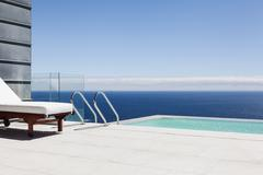 Stock Photo of Infinity pool overlooking ocean