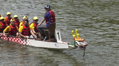 Annual Dragon Boat Race, Ontario 2015 Stock Footage