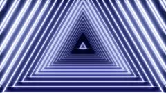 Glowing Tempo Driven Triangle Tunnel Loop with Alpha Matte - stock footage