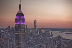 Empire State Building at sunrise, New York City, New York, United States Kuvituskuvat