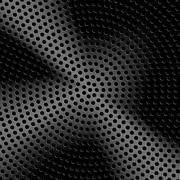 Technology background with seamless circle perforated metal (chrome, iron Stock Illustration