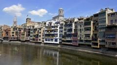 Girona, Catalonia, Spain Stock Footage