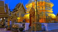 Wat Phra That Doi Suthep in Chiang Mai, Thailand Stock Footage