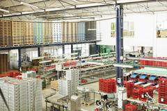 View of food processing plant - stock photo