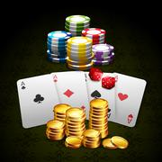 Casino and gambling background Stock Illustration