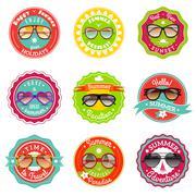 Sun glasses summer sale labels Piirros