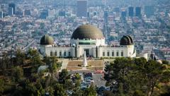 Griffith Observatory Los Angeles Day Timelapse - stock footage