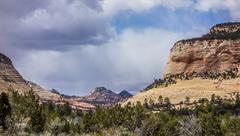 Landscapes near abra kanabra and zion national park in utah Stock Photos