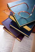 Books and Spectacles Stock Photos