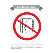 No personal organizer icon - stock illustration