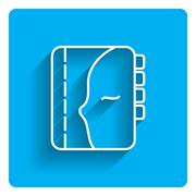 Personal organizer icon Stock Illustration