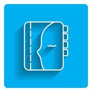 Personal organizer icon - stock illustration