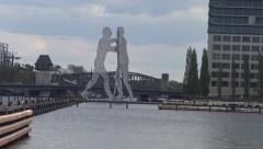 Molecular Man, River Spree, Berlin Stock Footage