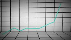 Animated 3D Line Chart UP Stock Footage