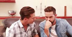 Unhappy homosexual couple Stock Footage