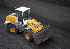 Wheel loader machine - stock photo