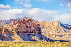 Canyon geological formations in utah and arizona Stock Photos